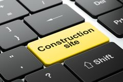 Construction concept: Construction Site on computer keyboard background stock images