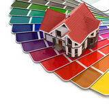 Construction concept. House and color palette. Royalty Free Stock Images