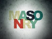 Construction concept: Masonry on Digital Data Paper background Stock Photo