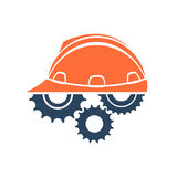 Construction conceptual logo Royalty Free Stock Images