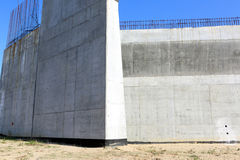 During construction, concrete architectural element Royalty Free Stock Photo