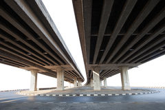 Construction of concrete bridge isolated white background use fo. R infra structure of  cement ramb bridge Stock Photos