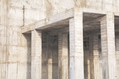Construction of concrete building. Horizontal photo full frame Royalty Free Stock Photography