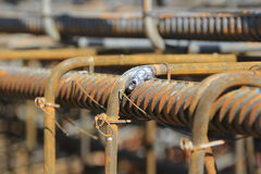 Construction of concrete reinforcement Royalty Free Stock Image
