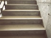 Construction of concrete stairs under construction works. Construction of concrete stairs under construction works stock image