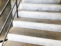 Construction of concrete stairs under construction works.  royalty free stock photos