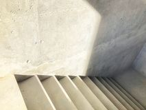 Construction of concrete stairs under construction works. Entrance in a new building, steps, top view down.  stock photo