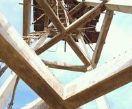Construction concrete tower royalty free stock photography