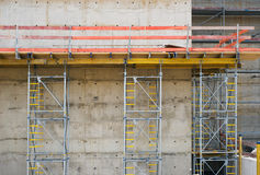 Construction with Concrete Wall Royalty Free Stock Image