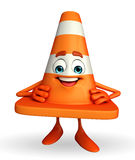 Construction Cone Character Stock Image
