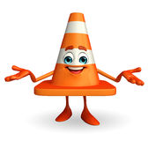 Construction Cone Character Stock Photos