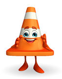 Construction Cone Character Stock Photography