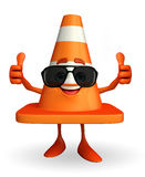 Construction Cone Character with goggle Stock Images