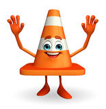Construction Cone Character with happy pose Royalty Free Stock Photos