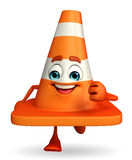 Construction Cone Character is running Royalty Free Stock Photo