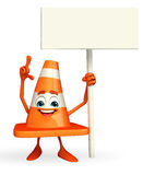 Construction Cone Character with sign Royalty Free Stock Images
