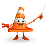 Construction Cone Character with stick Royalty Free Stock Photography