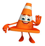 Construction Cone Character with stop pose Stock Image