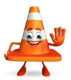 Construction Cone Character with stop pose Stock Photography