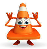 Construction Cone Character with teasign pose Stock Image