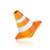 Construction cone illustration design Royalty Free Stock Photography