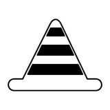 Construction cone isolated icon Stock Photography
