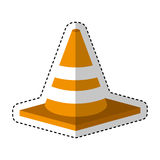 Construction cone isometric icon Stock Images