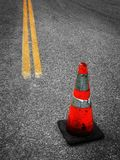 Construction Cone and Street Repair Royalty Free Stock Photo