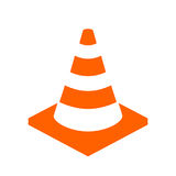 Construction cone vector icon Stock Images