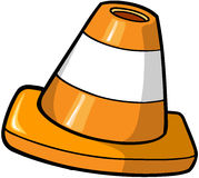 Construction cone Vector Illustration Stock Images
