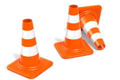 Construction Cones Stock Photography