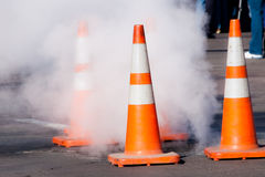 Construction cones Royalty Free Stock Photo