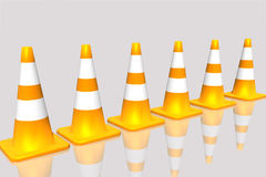 Construction cones. Construction cones on white background Royalty Free Stock Images