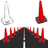 Construction Cones Road Stock Image