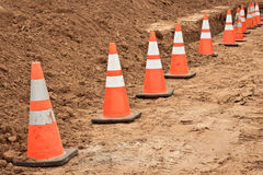 Construction Cones Royalty Free Stock Images