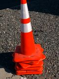Construction Cones. royalty free stock image