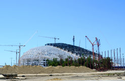 Construction Construction of the stadium opening and closing ceremonies Fisht Royalty Free Stock Photo