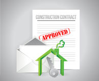 Construction contract approved concept Royalty Free Stock Image