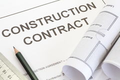Construction contract stock photography
