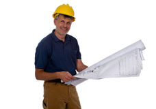 Construction Contractor Businessman on White Stock Photo