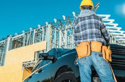 Construction Contractor Job royalty free stock images