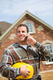 Construction: Contractor on the Phone stock image