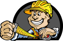Construction Contractor with Tape Measure Royalty Free Stock Photo