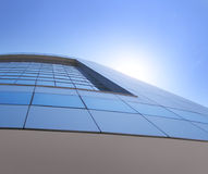 Construction corporative moderne d'affaires d'une institution financière Image libre de droits
