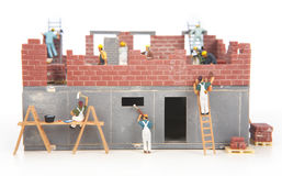 Construction of cottage Royalty Free Stock Photos