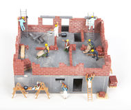 Construction of cottage Stock Photography