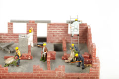 Construction of cottage Royalty Free Stock Photography