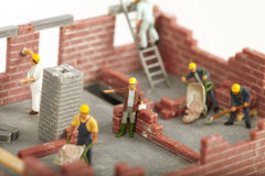 Construction of cottage Stock Images