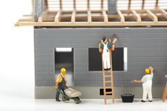 Construction of cottage Stock Photo