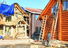 Construction of cottages Royalty Free Stock Image